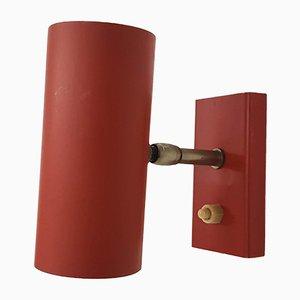 Rote minimalistische Wandlampe oder Wandleuchte von JJM Hoogervorst für Anvia, 1950er