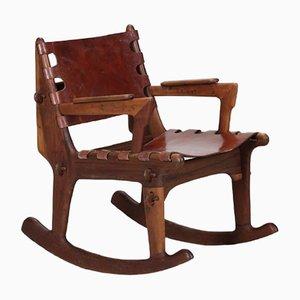 Sedia a dondolo di Angel I. Pazmino per Muebles de Estilo, anni '60