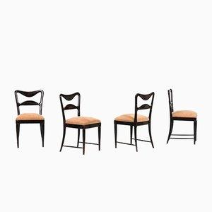 Esszimmerstühle aus Mahagoni von Osvaldo Borsani, 1940, 4er Set