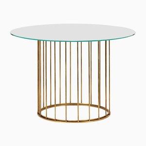 Mesa de centro Cage redonda de Niccolo De Ruvo para Brass Brothers