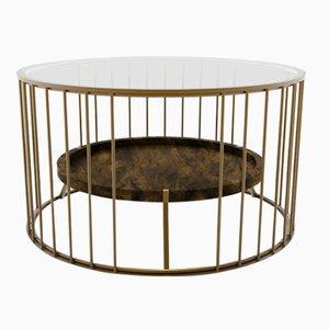 Runder Cage Couchtisch von Niccolo De Ruvo für Brass Brothers