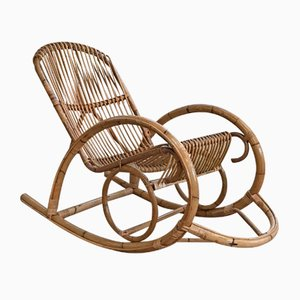 Rattan Rocking Chair, 1980s