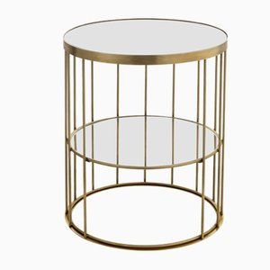 Round Tall Cage Coffee Table by Niccolo De Ruvo for Brass Brothers