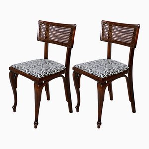 Ungarische Art Deco Stühle aus Bugholz, 1930er, 2er Set