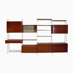 Sistema de pared con escritorio, años 70