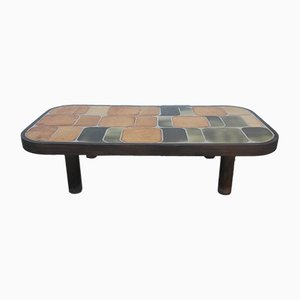 Large Ceramic Coffee Table by Roger Capron, 1971
