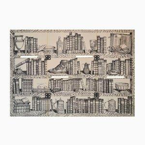 Krawatten-Wandschirm mit Druckmotiv von Atelier Fornasetti, 1990
