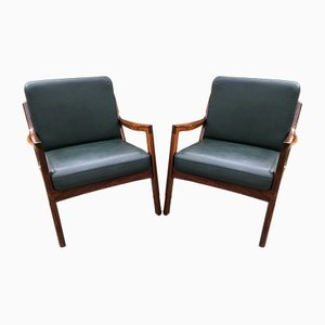 Vintage Senator Rosewood Chairs by Ole Wanscher for France & Son, Set of 2