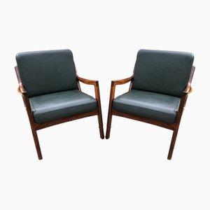 Vintage Senator Stühle aus Palisander von Ole Wanscher für France & Son, 2er Set