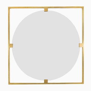Timeless Geometric Square Mirror from Brass Brothers