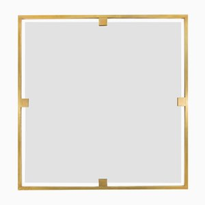 Timeless Square Mirror from Brass Brothers
