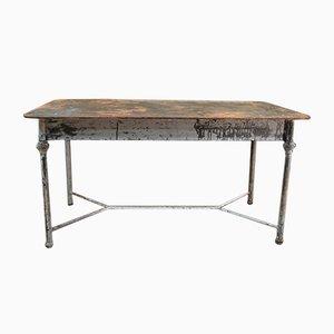 Französischer Gartentisch aus Metall, 1930er