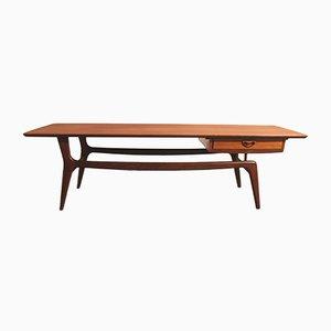 Mesa de centro de teca de Louis van Teeffelen de WéBé, años 50