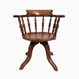 Antique Elm Captain's Chair