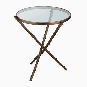 Mittelgroßer Rosa Canina Tisch mit Beinen in Hagebutten-Optik von Brass Brothers