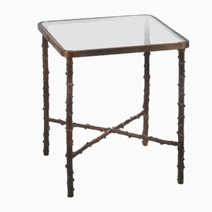 Small Square Rosehip Stalks Side Table from Brass Brothers