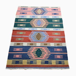 Vintage Turkish Wool Kilim Rug, 1984