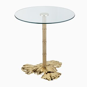 Small Gingko Biloba Leaves Side Table from Brass Brothers
