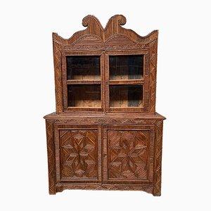 Mueble Folk Art antiguo de dos partes