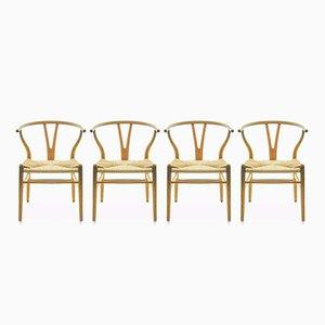 CH24 Wishbone Stühle von Hans J. Wegner für Carl Hansen & Søn, 1960er, 4er Set
