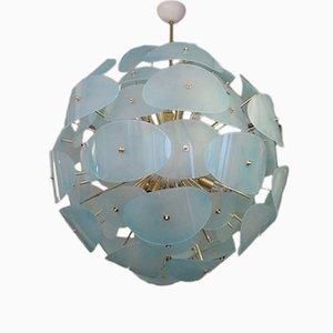 Lámpara de araña Sputnik italiana en verde, años 70