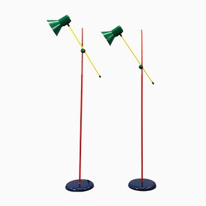 Memphis Floor Lamps, 1980s, Set of 2