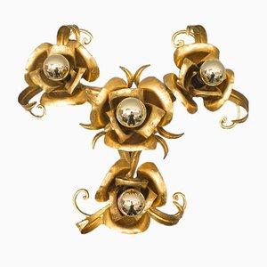 Plafón Florentine dorada de Hans Kögl, años 60
