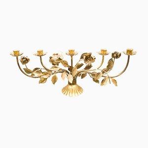 Candelabro Florentine grande dorado de Hans Kögl, años 60