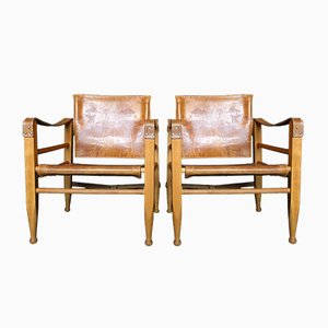 Safari Chairs from Aage Bruun and Son, 1950s, Set of 2