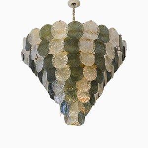 Lámpara de araña Mid-Century de cristal de Murano artístico, años 70