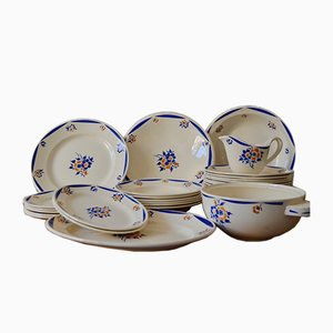 French Porcelain Service, 1940s