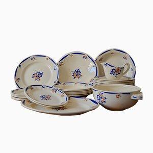 Vajilla francesa de porcelana, años 40