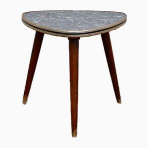 Vintage Imitation Marble Tripod Table