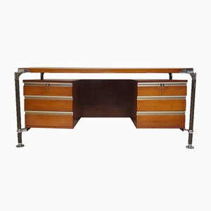 Mid-Century Italian Desk by Ico & Luisa Parisi for MIM Roma, 1950s