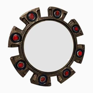 Ceramic Mirror from Berlemont, 1960s
