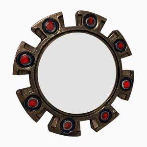 Spiegel aus Keramik von Berlemont, 1960er