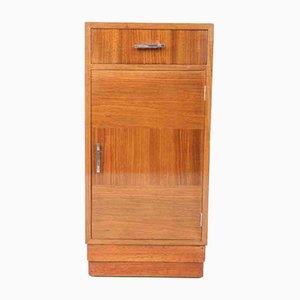 Art Deco Nachtschrank aus Nussholz