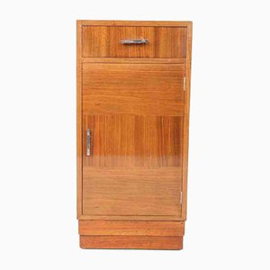 Art Deco Walnut Bedside Cabinet