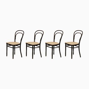Chaises No. 214 de Thonet, Set de 4, 1970s