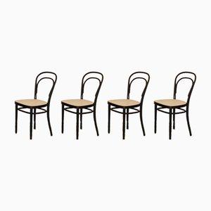 No. 214 Stühle von Thonet, 1970er, 4er Set