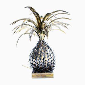 Lampada da tavolo ad ananas di Maison Jansen, anni '70