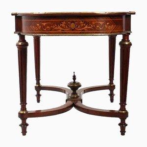 Antiker Tisch aus Palisander mit Intarsien