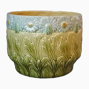 Art Nouveau Flower Pot from Sarreguemines, 1900s
