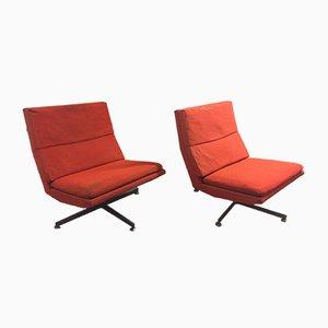 Chaises Pivotantes par Georges van Rijck pour Beaufort, 1960s, Set de 2