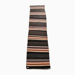 Gestreifter türkischer & gestreifter Vintage Teppich aus reiner Wolle, 1978