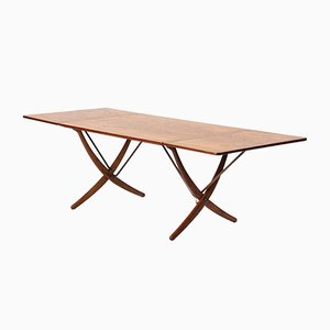 Mid-Century AT-309 Drop-Leaf Dining Table by Hans J. Wegner