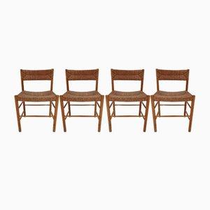 Chaises de Salon Vintage par Charlotte Perriand, 1955, Set de 4