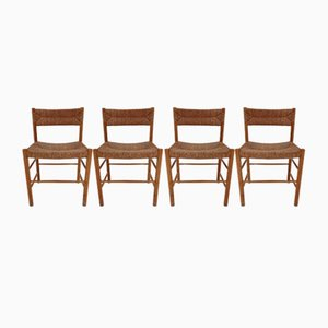Vintage Dining Chairs by Charlotte Perriand, 1955, Set of 4