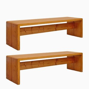 Vintage Benches by Charlotte Perriand, Set of 2