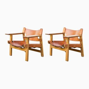 Vintage Model Spanish Chairs by Børge Mogensen for Fredericia, 1950s, Set of 2